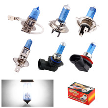 H1 H3 H4 H7 H8 H9 H11 HB3 HB4 9006 55W 6000K Super Bright White car light halogen lamp bulb Car Styling Headlight Fog Lights(China)