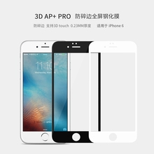 "For iphone 6 6s (4.7"") Nillkin 3D AP+PRO glass and ABS resin Fullscreen tempered glass curved edge screen protector 9H hardness"