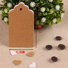 300pcs 7*4cm garment accessories blank design 3 colors art paper hang tag, zakka bread/coffee brand tags/cards