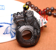 Wu Bao Ge Feng flying alone light Hing Choi dance pendant  lucky Pendant diy real stone Obsidian  jewelry necklace charms popsoc