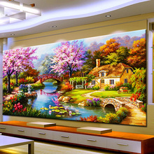 Needle Arts Crafts Diy Diamond Painting Cross Stitch Dream Home Diamond Embroidery Cabin Scenery Rubik's Cube Drill Picture(China)