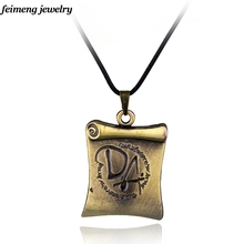 Free shipping DA book reel bronze necklaces for women necklace pendant necklaces(China)