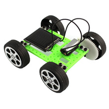 2017 # 1 Set Mini Solar Powered Toy DIY Car Kit Children Educational Gadget Hobby Funny(China)