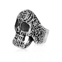 2015 Top Fashion Special Offer Rings Sterling Vintage Export Jewelry Fashion Personality Retro Mens Skull Ring Wholesale Sa494(China)