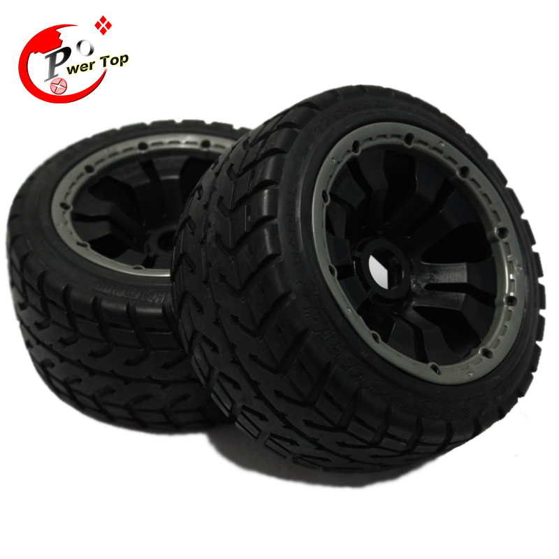 King Motor Baja On Road tire rear completed set with posion rim for HPI BAJA 5B Parts Rovan<br>