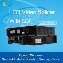 Commercial advertising led display sdi video quad splicer multi-windows 8k videowall controller AMS-SC368AS wholesaler price(China)