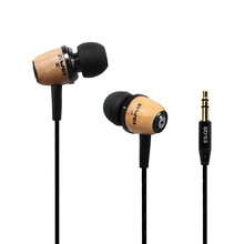 AWEI Q9 Super Bass Wooden In Ear Headphones Earphones Earbuds For Phone MP3 PC