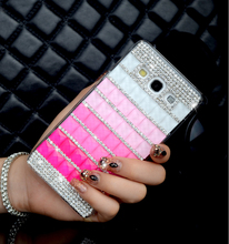 Luxury Handmade Phone Cases Bling Square Diamond Rhinestone Hard Back Case Cover for Samsung Galaxy A3 A3000 A5 A5000 A7 A7000(China)