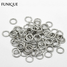 "FUNIQUE 500PCs CCB Plastic Closed Jump Rings &Split Rings For Jewelry Making Metal Connector Findings Silver Color 9mm( 3/8"")(China)"