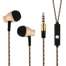 Aluminum Casing Earphones with microphone earphones Provide High Quality Stereo Audio Sound With Strong Bass for smartphone, Mac(China)
