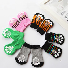Dog Socks Winter Warm Pet Socks Indoor Dog Shoes Sock For Teddy Poodle Anti-Slip(China)