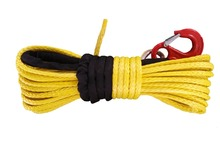 14mm x 30meters UHMWPE SYNTHETIC WINCH ROPE WITH HOOK FOR ATV 4*4 WARN FREE EXPRESS(China)