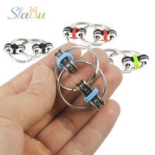 Buy Everyday Carry Children's Adult Toys 3CM Key Ring Hand Spinner Tri-Spinner Reduce Stress Fidget Toy Autism ADHD for $1.41 in AliExpress store