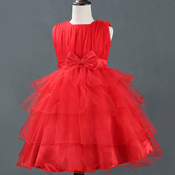 Children Full dress Red white purple Princess girl summer dress party dress Ball Gow flower vestido infantil bridesmaid dresses<br><br>Aliexpress