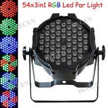 1pcs 54x3in1 RGB Led par can led 54x3w par light for dj party purple led lamp