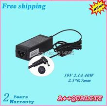 High quality 19V 2.1A 40W Laptop Adapter For ASUS MINI Eee pc 1001HA 1001P 1001PX 1005 1005H 1005HA 1005HR 2.5*0.7mm
