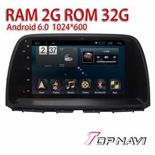 Auto CD Players for Mazda CX-5 2014 2015 2016 Android 6.0 9'' WANUSUAL Car GPS Navigation System Automotive 2G ram 32G rom(China)