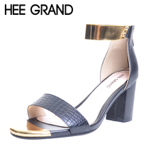 HEE GRAND Brand Gold Patchwork Women Sandals 2017 Snake Skin PU T-Strap Fashion Flip Flop 6 CM Summer Shoes Woman XWZ2039(China)