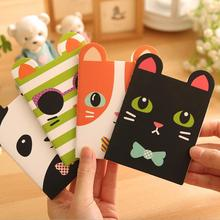 2 Piece Korean Creative Stationery Notepad Office Supplies School Cartoon Animals Style Filofax Notebook Diary Students(China)