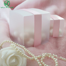 FREE SHIPPING--HOT 5x5 Matte Clear PVC Birthday Gift Box Wedding Favor Boxes Chocolate Candy Boxes Event Sweet Candy Box(China)