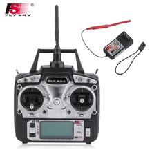 Radio Control 2.4GHz 6 Channel Left Hand Remote Control Transmitter + Receiver For Flysky FS-T6 RC Helicopter(China)