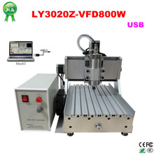 Russia free tax NEW cnc router LY 3020Z-VFD800W Spindle Motor USB 3Axis CNC lathe Machine 3d cnc wood carving router(China)