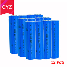 118650 3.7V 2200mAh(Not AA) Battery batteries lithium Li Ion Rechargeable Large Capacity Flashlight New Power - Cai Yuan Zi Store store
