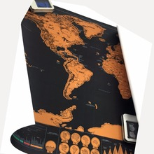 high quality scratch off the world map black  for home decoration wall art craft vintage poster r travel and living room decor