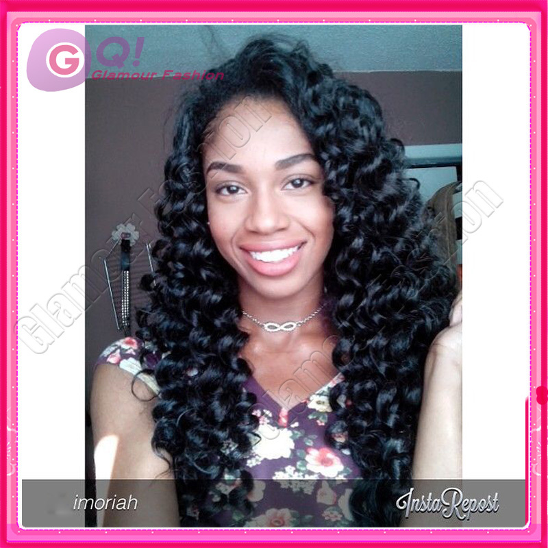 GQ u part wig deep curly u part wigs human hair 100% brazilian upart wigs for black women with bleached knots on sale in stock<br><br>Aliexpress