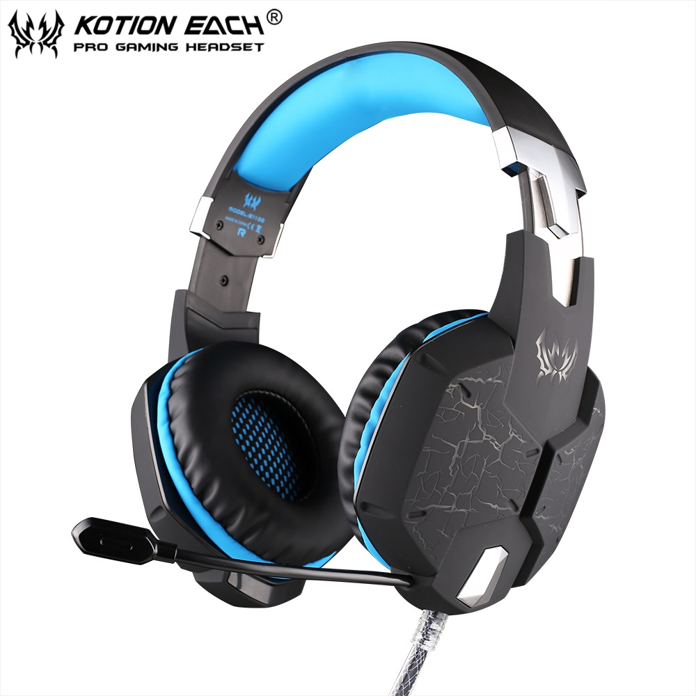 EACH G1100 Shake E-sports Gaming MIC LED Light Headset Headphone Casque with 7.1 Heavy Bass Surround Sound For PC Gamer<br>