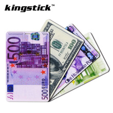 New arrival Currency 32GB usb flash drive 64GB Credit Card Pendrive 16GB Pen Drive 8GB U disk 4GB Memory Stick Card Disk(China)