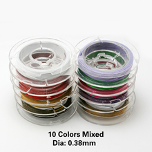 0.38mm Stainless Steel Wire 100m Assorted Colorful Beading Wire Jewelry Findings For Jewelry Making Bracelet Neckalce Accessory(China)