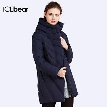 ICEbear 2016 Зимняя Куртка для Женщин Био-Пух Мягкий Пальто Куртка С Капюшоном Шинель Пуховик пошит стильно Теплый капюшон Женские зимние куртки и пальто Отличном качестве Верхняя одежда16G6219