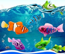 4 pieces/lot Funny Swim Electronic Robofish Activated Battery Powered Robo Toy fish Robotic Pet for Fishing Tank Decorating Fish(China)