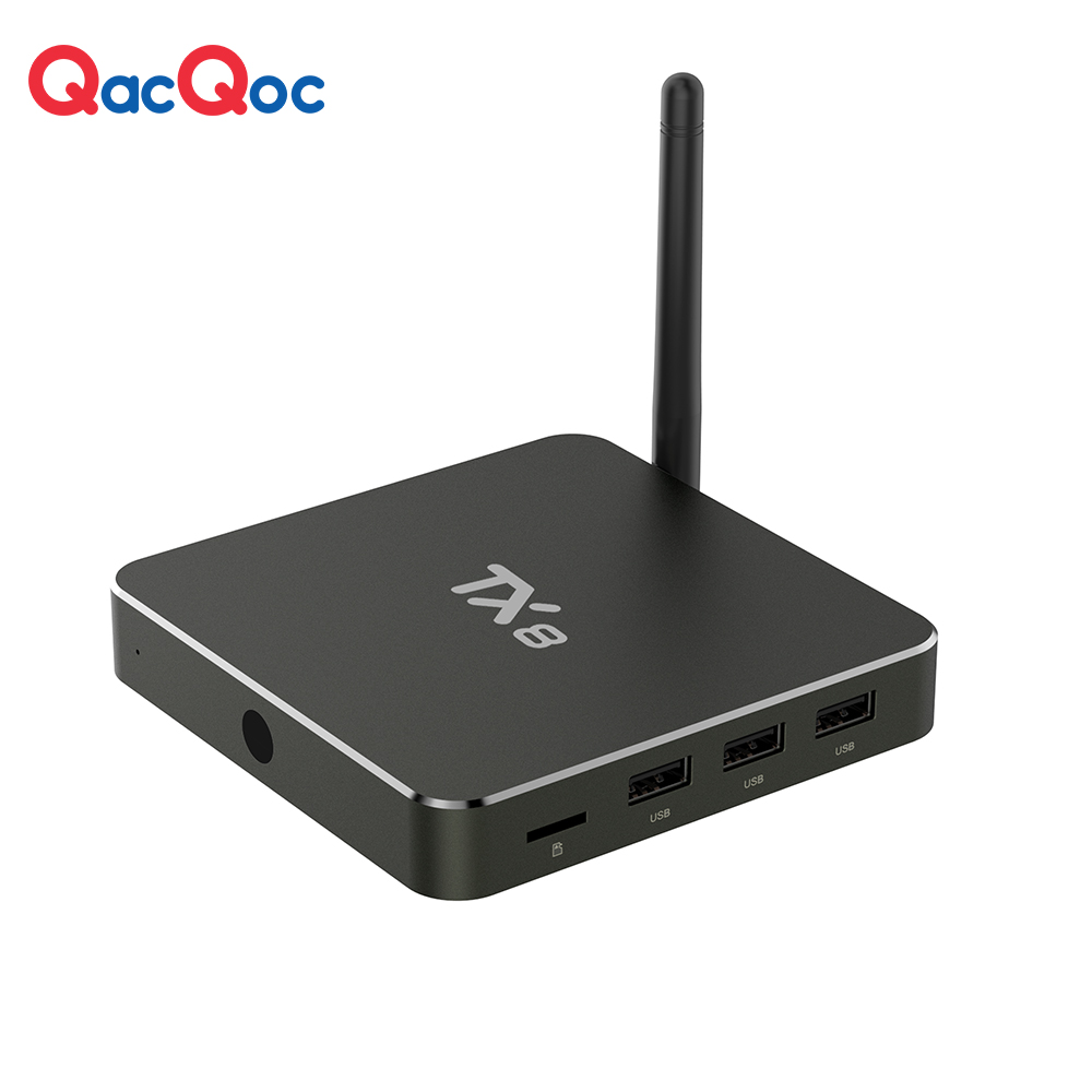 QacQoc TX8 Android 6.0 TV Box Amlogic S912 Octa-Core 2G/32G Dual Wifi 2.4G/5G AC OTA Update 4K Android Box Aluminum Smart TV box(China (Mainland))