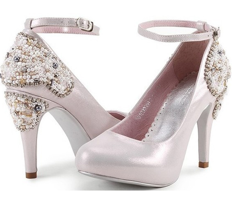 Fashion High-Heels Platform shoes Wedding Bride Shoes Elegant Pink Color Womens Genuine Leather Ladys Stiletto Heel SHoes<br><br>Aliexpress