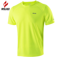 ARSUXEO Cycling Jersey 2017 Men Bike Bicycle Downhill Quick Dry Running Shirt Sport Clothing Basketball Baseball Jerseys 7372(China)