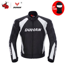 DUHAN Men's Motorcycle Jacket Moto Windproof Racing Jacket Clothing Blouson Moto With Five Protector Guards Motorbike Jacket(China)