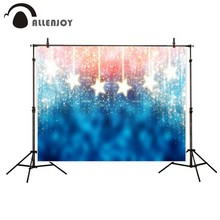 Allenjoy photography background blue red abstract christmas background golden stars glitter bokeh lights backdrop Photo studio