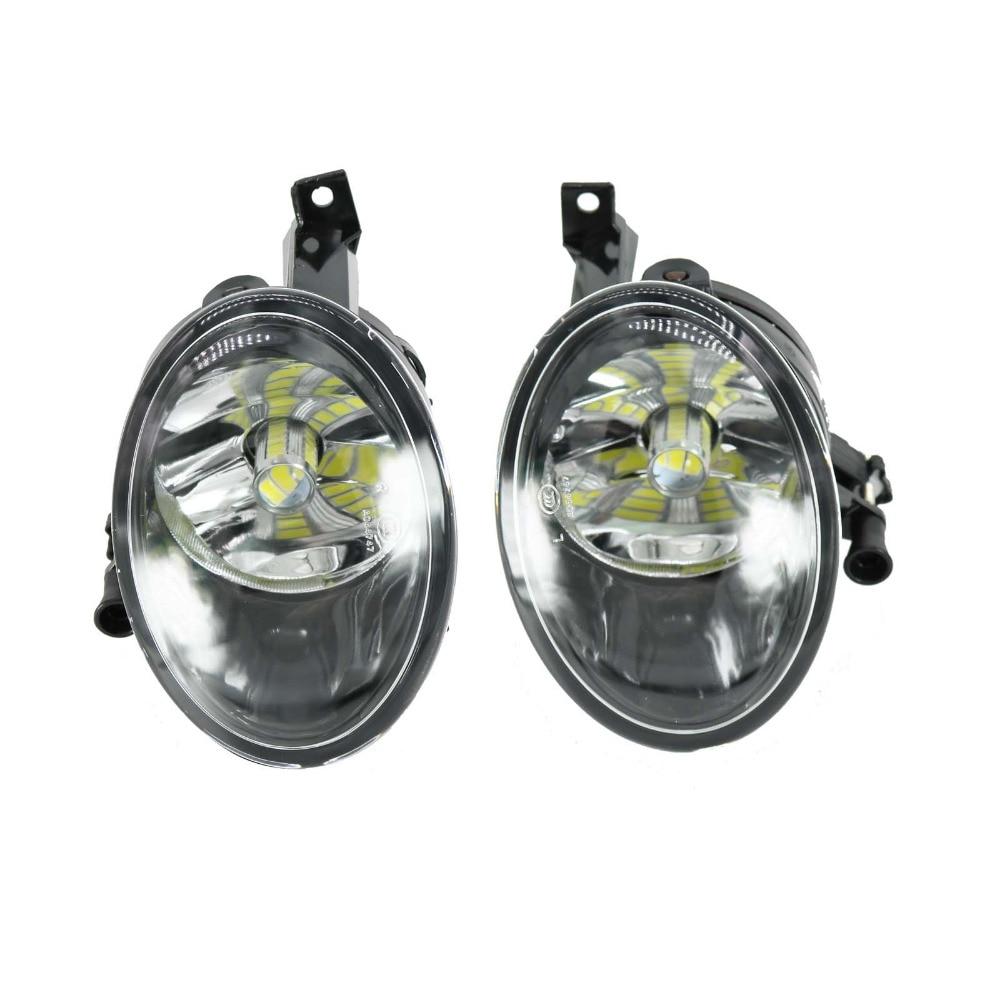 Car LED Light For VW Touran 2011 2012 2013 2014 2015 2016 Left And Right Side Front LED Fog Light Fog Lamp With LED Bulbs<br>