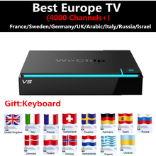 Europe IPTV box Android 6.0 TV Box Wechip V5 2G+16G +Sweden Arabic UK Germany Israel yes iptv Hot club 4000+ free - PandaTV Store store