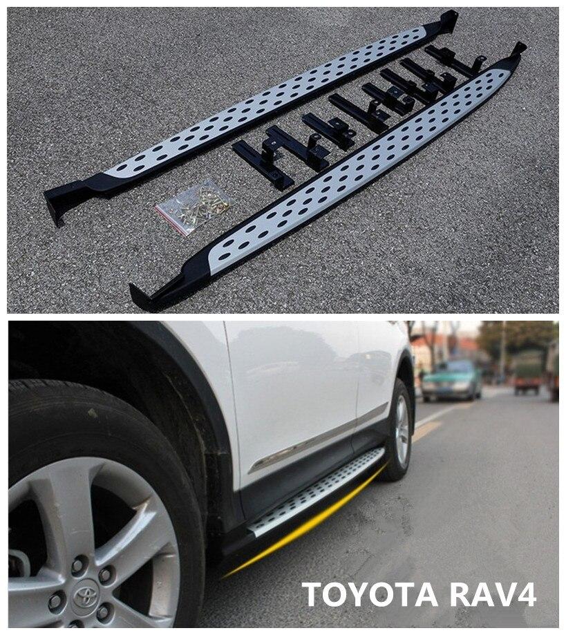 NEW aluminium fit FOR Toyota RAV4 2014-2018 running board side step Nerf bar