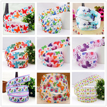 147640 ,22mm 1 yards Cartoon Butterfly Series printed  grosgrain ribbon, Clothing accessories,DIY jewelry wedding package