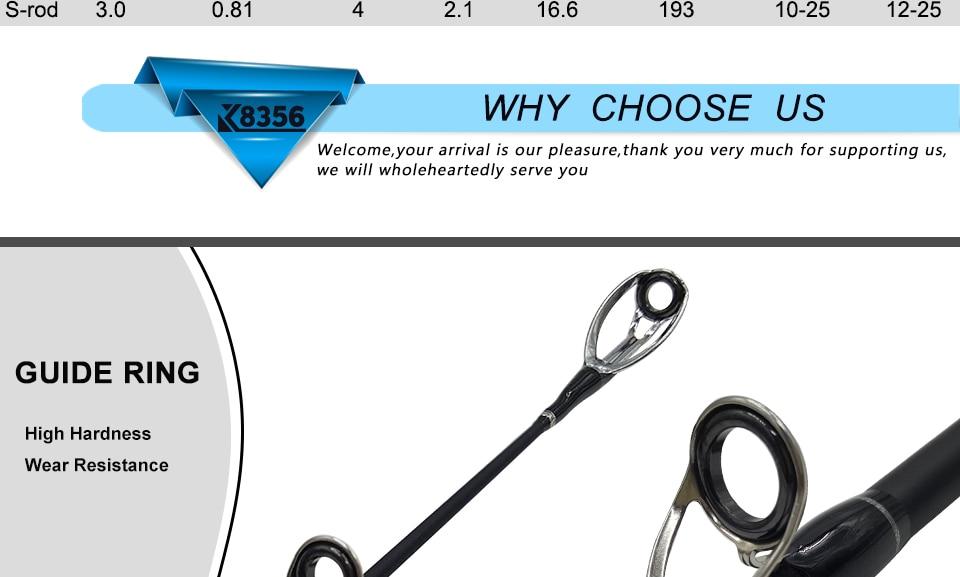 K8356 1.8-3.0m Ultra Light Portable M Power 4 Section Carbon Fiber BaitcastingSpinning Fishing Rod 10-25g 12-25Ib Travel Rod_5