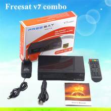 Freesat V7 combo FTA DVB-S2 DVB-T2 digital satellite receiver Satellite tv receiver decoder Support USB WIFI Youtube Youporn