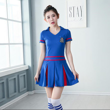 Sexy Fantasy cheerleading Football Baby Split Sport Soccer Game Team girl Costumes Cheering Uniforms Temptation Sport Suits(China)