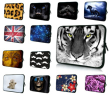 "Tiger Face 10"" Unisex Animal Prints Notebook Laptop Soft Neoprene Bags Cases For ASUS Transformer Book T100 10.1"" Tablet Netbook"