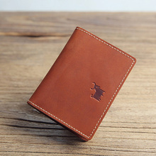 Buy Genuine Leather Cardholder Men Vintage Wallet Credit Cards Thin Bank Card Case Credit Card Protector Cards Holder Organizer for $13.33 in AliExpress store