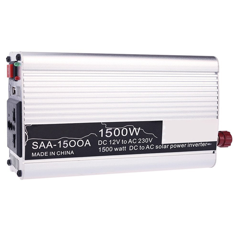Silver Portable Car Power Inverter 1500W Solar Power inverter 12v 220v converter AC Modified Charger Converter()