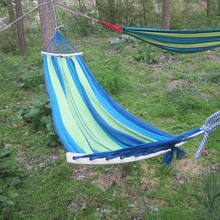 Outdoor hammock bent stick rollover single dorm outdoor folding hammock hammocks swings thick stick
